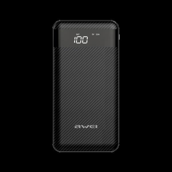 شارژر همراه ( پاوربانک ) ظرفیت 10000 شارژ سریع اوی Awei P63K