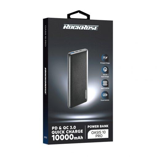 پاوربانک 10000 راک رُز Rockrose Oasis 10 Pro